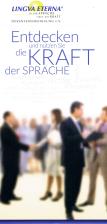 Broschüre - Entdecken Sie die Kraft der Sprache